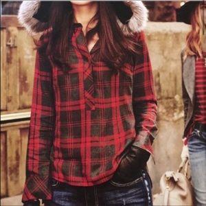 ❤️ Cabi Cunningham Plaid Popover Flannel Shirt ❤️